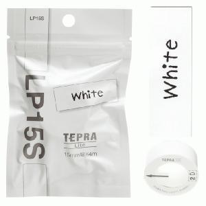 キングジム テプラ Liteテ−プホワイト LP15S|econvecoco