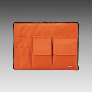 LIHIT LAB.<リヒトラブ> TEFFA バッグ・イン・バッグ A4サイズ A-7554-4 橙 (A-7554-橙)|econvecoco