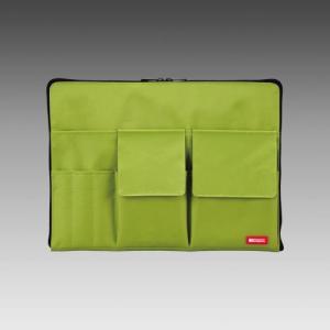 LIHIT LAB.<リヒトラブ> TEFFA バッグ・イン・バッグ A4サイズ A-7554-6 黄緑 (A-7554-黄緑)|econvecoco
