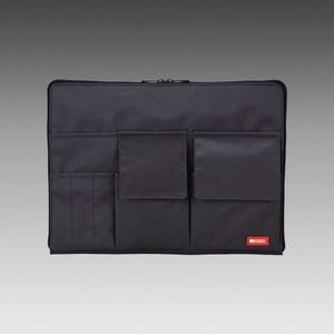 LIHIT LAB.<リヒトラブ> TEFFA バッグ・イン・バッグ A4サイズ A-7554-24 黒 (A-7554-黒)|econvecoco