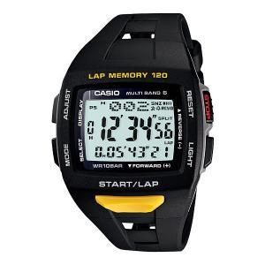 CASIO(カシオ) PHYS(フィズ) For Runner<ランナーモデル> STW-1000-1JF ブラック&イエロー 国内正規品|econvecoco