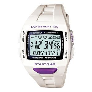 CASIO(カシオ) PHYS(フィズ) For Runner<ランナーモデル> STW-1000-7JF ホワイト&パープル 国内正規品|econvecoco