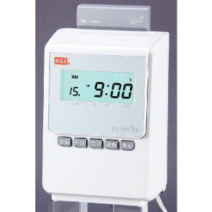 MAX<マックス> タイムレコーダー ER-110S5Wホワイト 新電波時計搭載モデル|econvecoco
