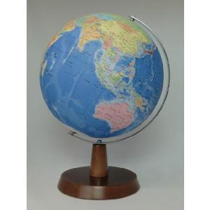 昭和カートン(三貴工業) SHOWAGLOBES 行政図タイプ地球儀 26cm 26-GAW-K 日本製 木製台座 プレゼントに最適な化粧箱入り