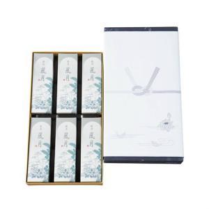 線香 銘香 風月 進物 6箱入 化粧袋入 #65056 【ご進物用お線香】日本香堂|econvecoco
