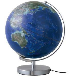 レイメイ藤井(Raymay) 衛星画像地球儀 OYV257 球径30cm 衛星画像タイプ 地球儀スケール付 ライト付 NASA撮影2013年衛星写真使用