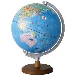 レイメイ藤井(Raymay) 国旗イラスト付地球儀 OYV321 球径30cm 行政タイプ 地球儀スケール付
