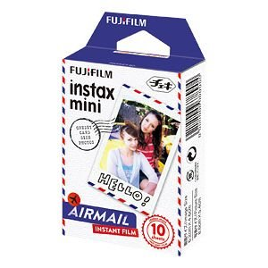 インスタントカメラ チェキ専用インスタントカラーフィルム instax mini 絵柄入りフレーム エアメール チェキフィルム instax mini AIRMAIL WW 1 富士フイルム|econvecoco