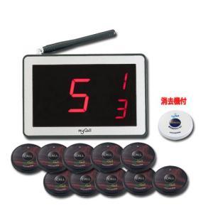 ニッポー(マイコール) ワイヤレスコールシステム「マイコール」 送信機10台セット ウッド MYCst110 WOOD econvecoco