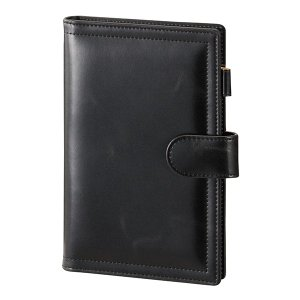 レイメイ藤井 キーワード セレクトリフィル システム手帳カバー 聖書サイズ ホックベルトタイプ(リング15mm) WBF67 B ブラック|econvecoco