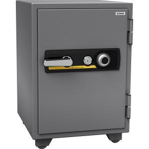 エーコー 家庭用小型耐火金庫 STANDARD 665DK (ダイヤル&シリンダー式) A4ファイル対応 1時間耐火 51L 棚板1枚 鍵付引出し1個 「EIKO」 103kg|econvecoco