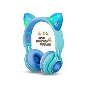 Riwbox 子供用ヘッドフォン CT-7S Bluetooth ヘッドフォン 85dB ボリューム制限 聴覚保護 LE・・・|ecoplanet-yokohama