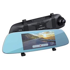 AUKEY ルームミラー型 ドライブレコーダー バックミラー型 前後2カメラ ドラレコ 1080Pフ...