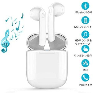 HaoYJ Bluetooth5.0 ワイヤレスイヤホン HiFi高音質 自動ペアリング 両耳通話 ブルートゥース イヤ・・・|ecoplanet-yokohama
