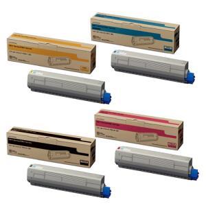 4色セット OKI TNR-C3LK2/C3LC2/C3LM2/C3LY2 (ブラック/シアン/マゼンタ/イエロー) (TNR-C3LK1シリーズの大容量)純正トナーカートリッジ|ecosol