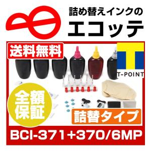 (インクの日クーポン配布中)キヤノン BCI-371+370/6MP お徳用詰め替えインク ビギナー...
