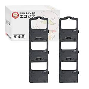 TY-125A-BK シャープ 用 汎用インクリボンカセット 黒 6個 UE-1P03 UE-1P04 UE-1P07|ecotte-shop