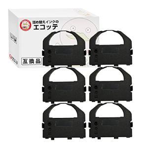 VP3000RC2 エプソン 用 汎用インクリボンカセット 黒 6個 BM-2000 BM-900 VP-2000 VP-2000PC VP-2050|ecotte-shop