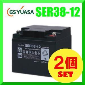 【2個セット】SER38-12 GS YUASA ジーエスユアサ 高性能サイクルサービス用鉛蓄電池[互換HC38-12,SC38-12,FC38-12]