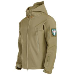 マウンテンパーカー ソフトシェルジャケット ジップアップパーカ 長袖 フード付き アウター メンズ ...