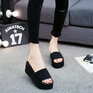 サンダル レディースシューズ  靴  スリッパ  厚底  ウェッジソール 履きやすい コンフォートサンダル  オフィス 美脚|ecshop|02