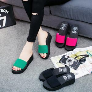 サンダル レディースシューズ  靴  スリッパ  厚底  ウェッジソール 履きやすい コンフォートサンダル  オフィス 美脚|ecshop|04