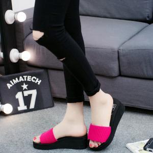 サンダル レディースシューズ  靴  スリッパ  厚底  ウェッジソール 履きやすい コンフォートサンダル  オフィス 美脚|ecshop|05