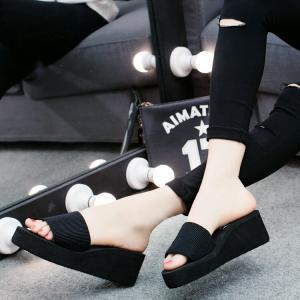 サンダル レディースシューズ  靴  スリッパ  厚底  ウェッジソール 履きやすい コンフォートサンダル  オフィス 美脚|ecshop|06