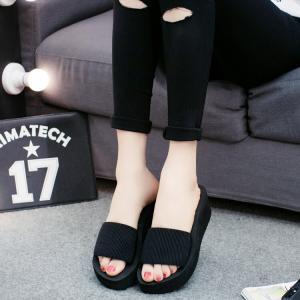 サンダル レディースシューズ  靴  スリッパ  厚底  ウェッジソール 履きやすい コンフォートサンダル  オフィス 美脚|ecshop|09