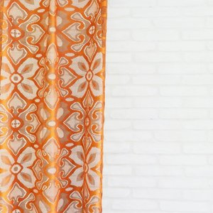 オーダーカーテン【幅〜100cm×高201〜260cm×1枚】エスニック風レースカーテン。アジアン家具が似合うオシャレな空間。洗濯可の写真