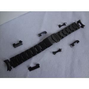 DebeerバンドOyster黒PVD18mm/20mm腕時計ステンレスベルト Seiko等用