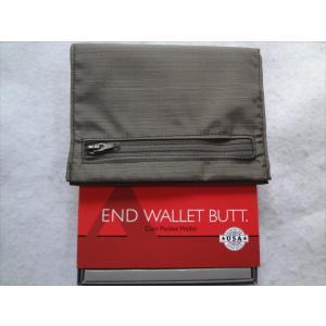 ALL-ETT Nylon Coin Pocket極薄財布USA 小銭カード札入れ茶|ecwide