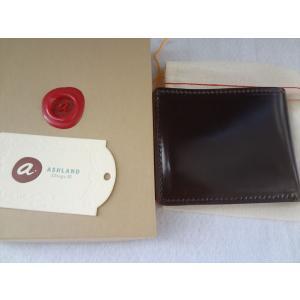 Ashland ホーウィン Horween コードバン 財布 Shell Cordovan 100% #8(茶色のような色)|ecwide