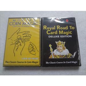手品 DVD Modern Coin Card Magic & Royal Road Card Magic カードマジック コインマジック|ecwide