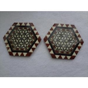 スペイン グラナダ製 タラセア 寄木細工 コースター TARACEA 伝統工芸品|ecwide