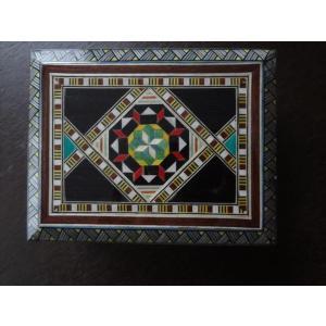 スペイン グラナダ製 タラセア 寄木細工 箱 トランプ カードケース 螺鈿細工 ジュエリーボックス TARACEA 伝統工芸品 3|ecwide