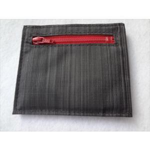 ALL-ETT 極薄財布 小銭 カード 札入れ Nylon Small Coin Wallet 黒/赤 ナイロンスリムウォレット アメリカ製|ecwide