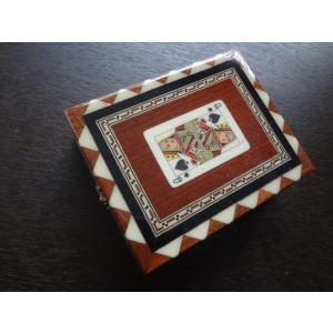 スペイン グラナダ製 タラセア 寄木細工 箱 トランプ カードケース シングル 螺鈿細工 ジュエリーボックス TARACEA 伝統工芸品|ecwide