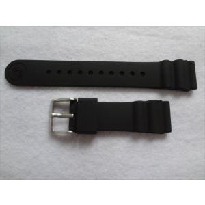 SEIKO 純正 ベルト PROSPEX STBR007 STBR009 用 腕時計 シリコンバンド 20mm プロスペックス 黒色 ブラック|ecwide