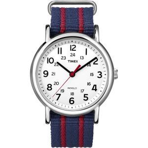 Timex WEEKENDERセントラルパークT2N747腕時計ストライプ 送料:定形外で250円 ecwide