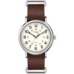 Timex WEEKENDERセントラルパークT2P495腕時計本革レザー茶 ecwide