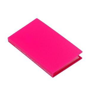 名刺ホルダー 120ポケット ピンク SOLID クリアファイル 収納 シンプル 公式通販サイト