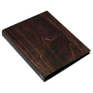 A4 2Hファイル[WOOD] ブラウン edc