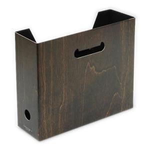 A4ファイルボックス[WOOD] Dブラウン1|edc