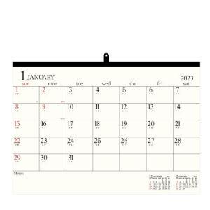 カレンダー 壁掛け A2 2020年 1月始まり アイボリー 大判 シンプル 公式通販サイト