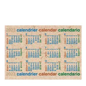 2019年 B2サイズポスターカレンダー ナチュラル|edc
