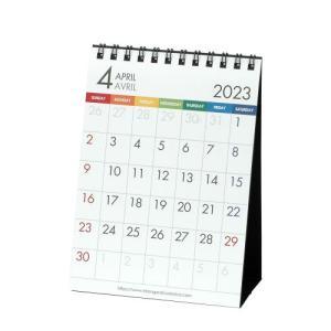 カレンダー 4月始まり 卓上 A6 2020年 カラーバー シンプル 公式通販サイト