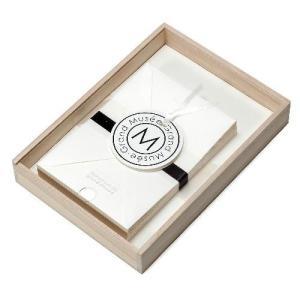 レターセット A5 木箱入り ホワイト PAPIER グランミュゼ プレゼント  記念品 公式通販サイト|edc