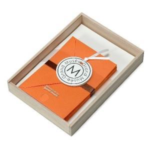 レターセット A5 木箱入り オレンジ PAPIER グランミュゼ プレゼント  記念品 公式通販サイト|edc