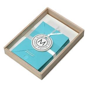 レターセット A5 木箱入り ブルー PAPIER グランミュゼ プレゼント  記念品 公式通販サイト|edc